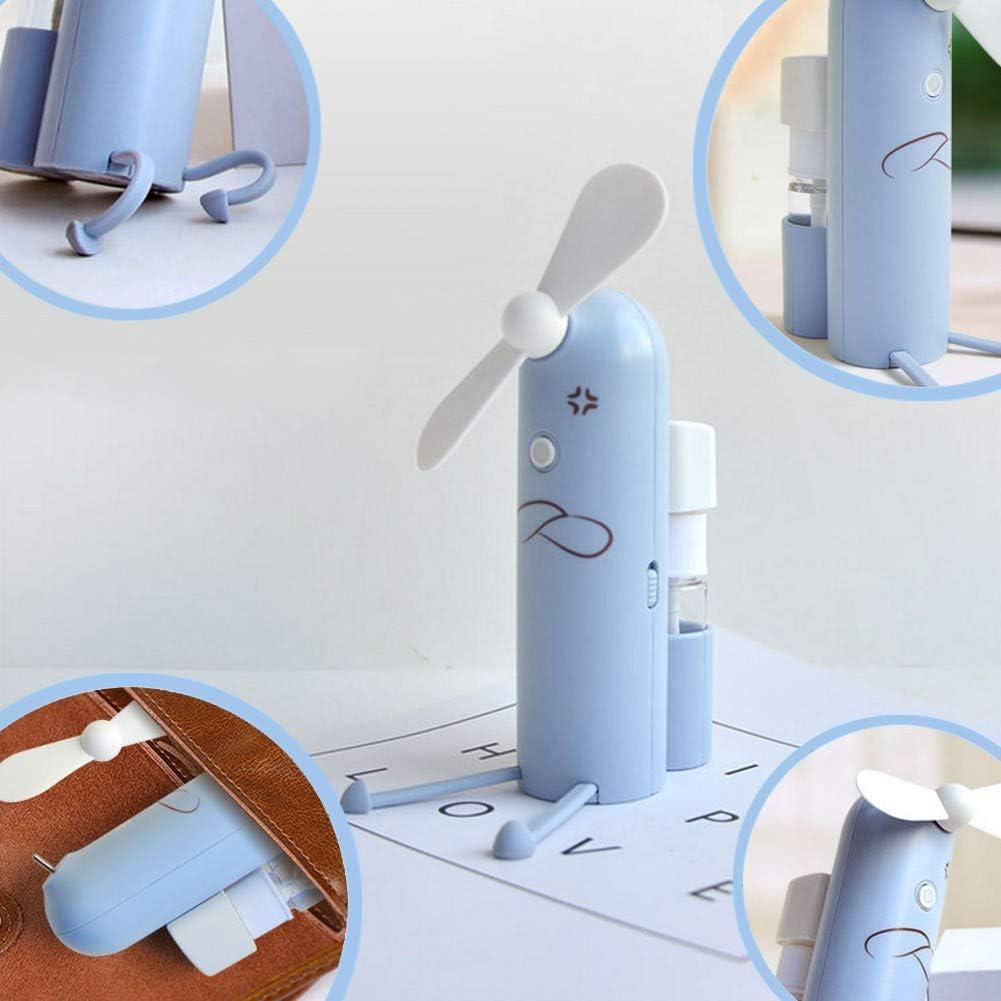 CAOQAO - Mini pulverizador silencioso, Ventilador de Bolsillo USB ...