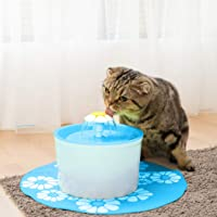 Automatic Electric Pet Water Fountain Dog/Cat Drinking Bowl Waterfall Drinkwell Blue Blue