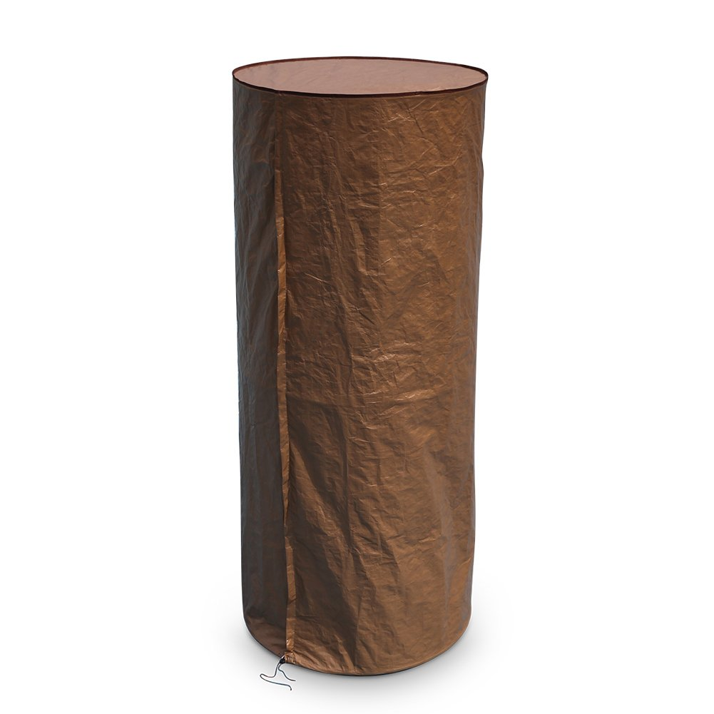 Abba Patio Round Heater Cover Outdoor Waterproof, Brown, 36'' W x 75'' H
