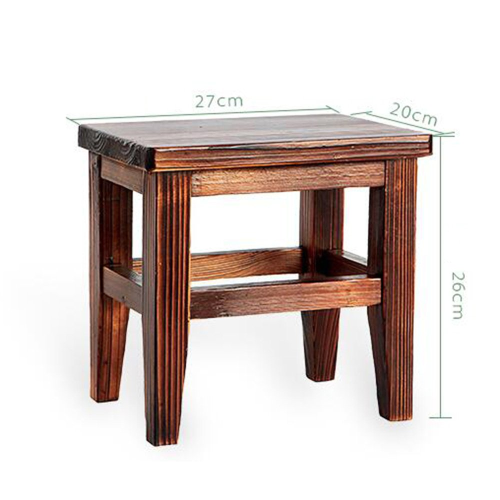 Chairs MEIDUO Stool Square Change Shoes Stool Small Wooden Children's Bench for Adult Living Room
