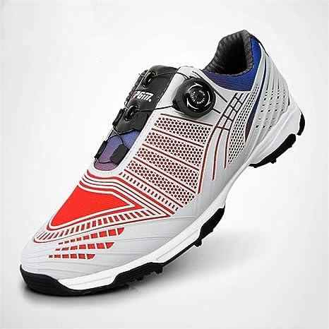GRASSAIR Zapatos de Golf para Hombre, Zapatos Impermeables degradados con Cordones giratorios Transpirable Ligero para cancha de Entrenamiento de Golf al Aire Libre y bajo Techo,C,44: Amazon.es: Deportes y aire libre