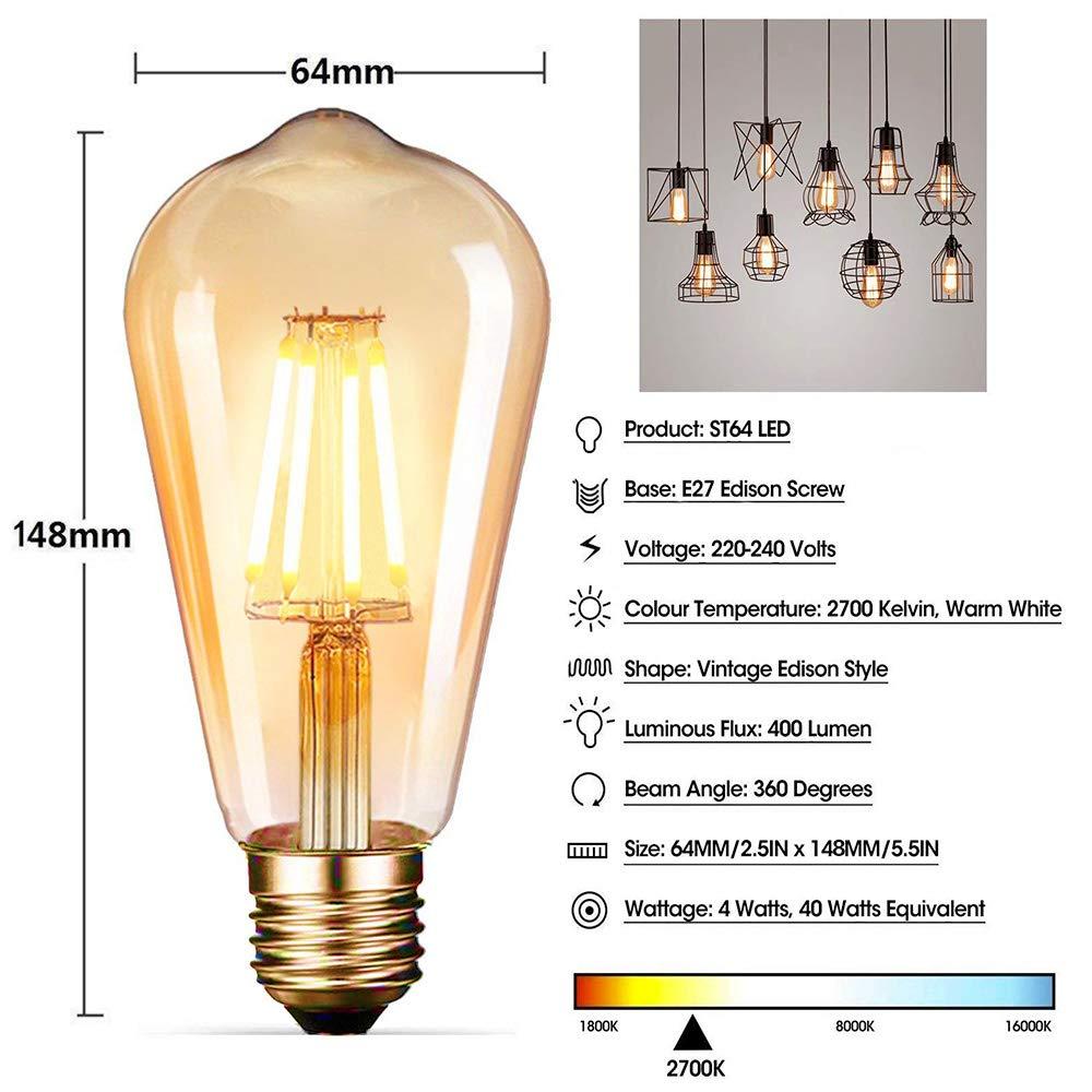 Vintage Light Bulbsdobee Edison Bulbs 4w 40w Equivalent Short Circuit Bulb Led