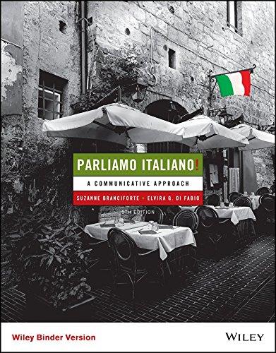 Parliamo Italiano  5E Binder Ready Version   Wileyplus Learning Space Registration Card  Italian Edition