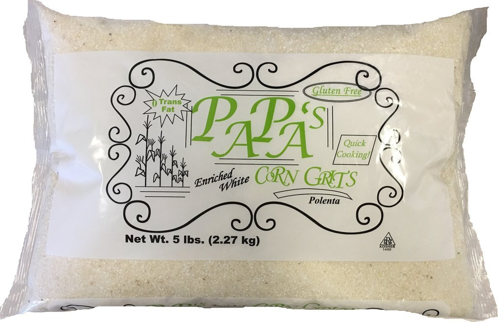 PAPA'S White Corn Grits (pack of 2 - 5 pound bags)