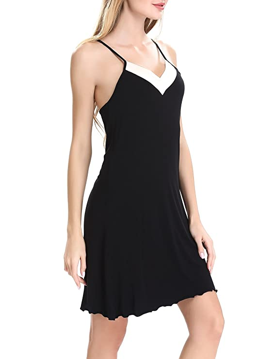 3362f2e8f1d41a Nora Twips Damen Negligee Kurz Nachtkleid Nachthemden Nachtwäsche  Schlafanzug Träger Kleid by (Schwarz,M): Amazon.de: Bekleidung