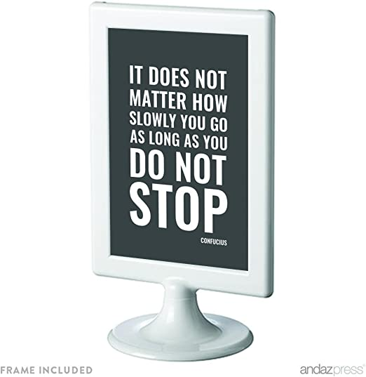 8x10 Sign TALK SLOWLY THINK QUICKLY Life Saying Best Quote Office Work Inspire