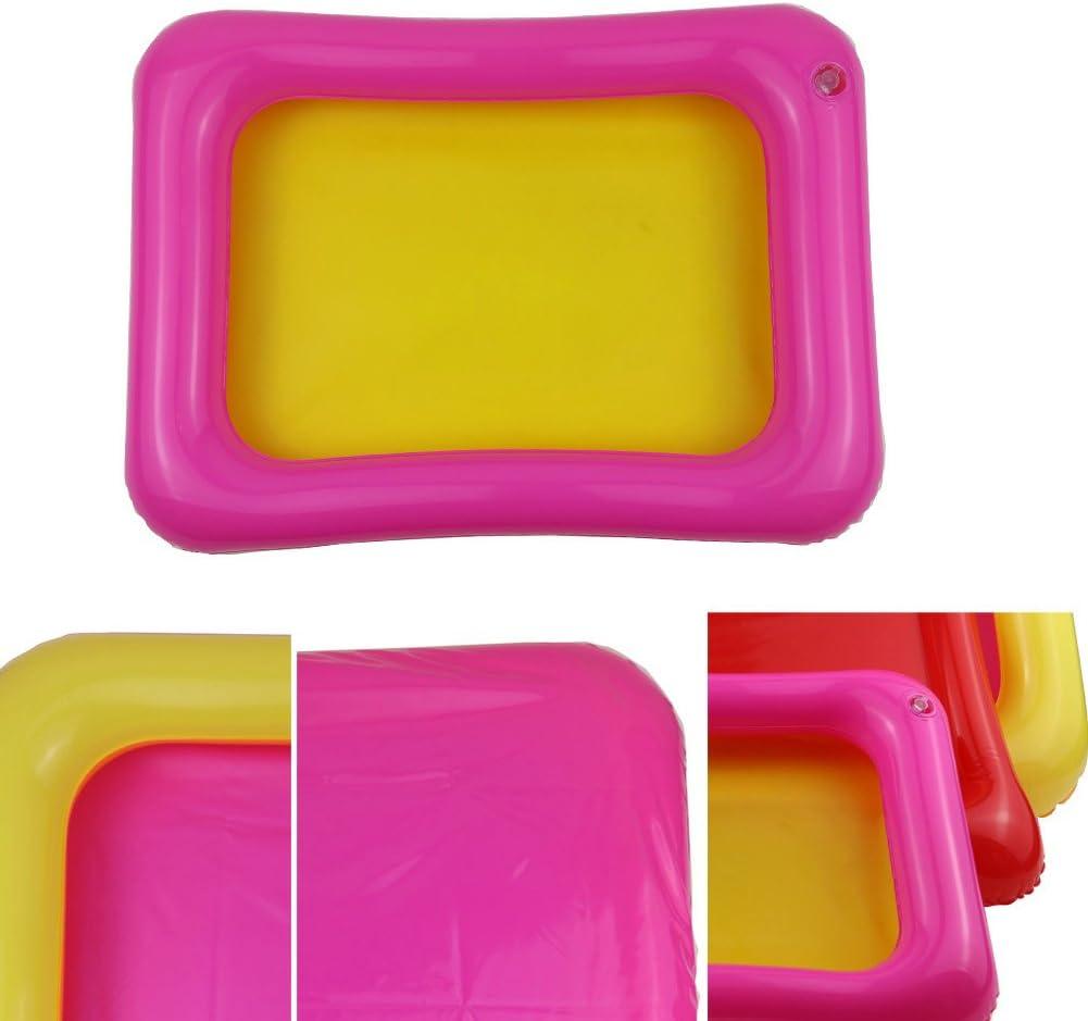 AchidistviQ Kids Indoor PVC Inflatable Castle Sand Box Sandbox Tray Table Fun Play Toys Small Random Color