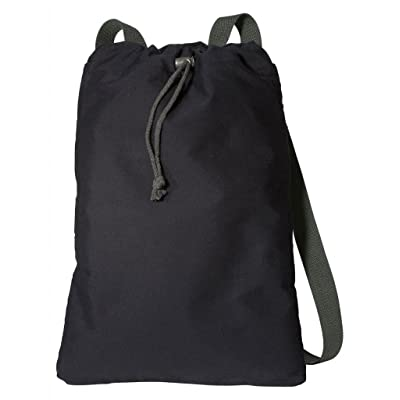 outlet Port Authority Canvas Soft Cotton Drawcord Toggle Cinch Pack