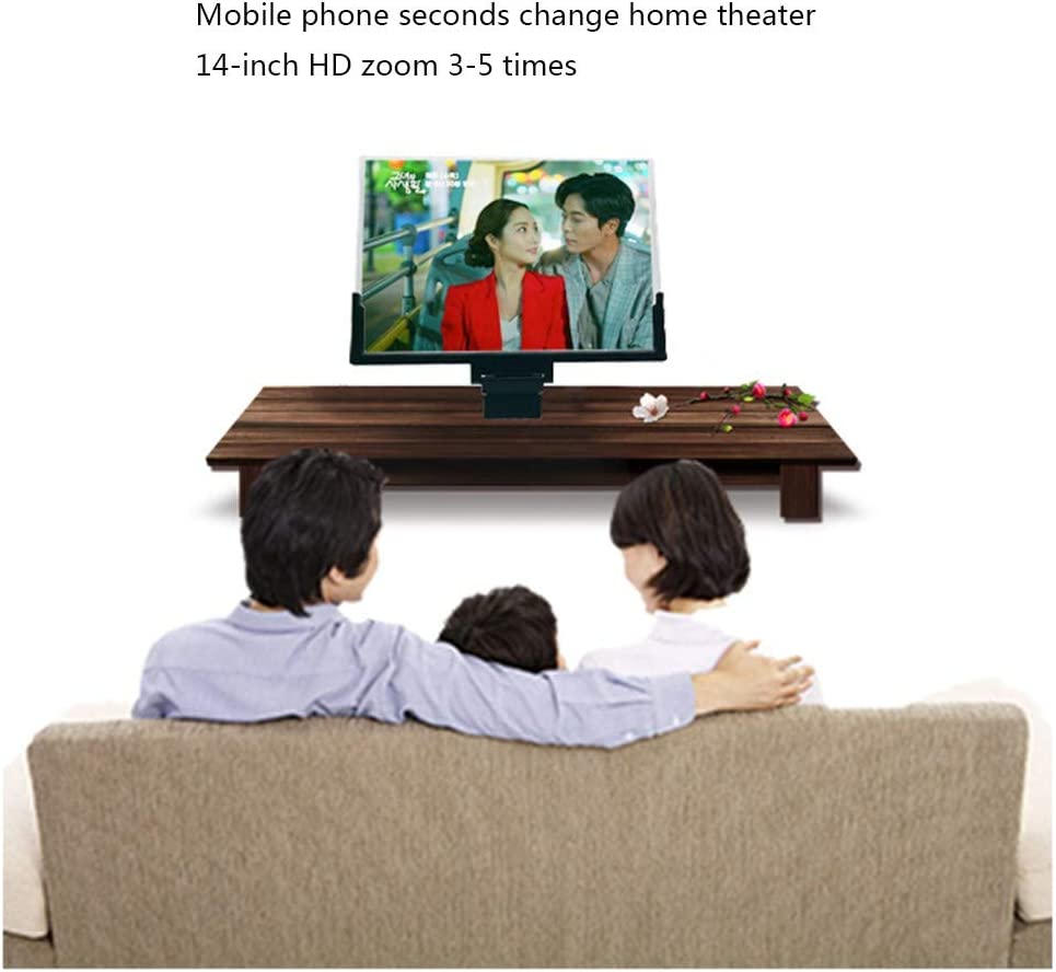 14 Inch Phone 3D Screen Magnifier Smartphone Magnifying Glass Enlarged Amplifier Mobile Bracket Holder Enjoy Movie Photo-Taking Reading Time