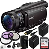 Sony HDR-CX900 Full HD Handycam Camcorder (Black) 64GB Bundle 11PC Accessory Kit. Includes SanDisk 64GB Ultra SDXC Memory Card (SDSDUNC-064G-GN6IN) + 2 Replacement FV-100 Batteries + MORE