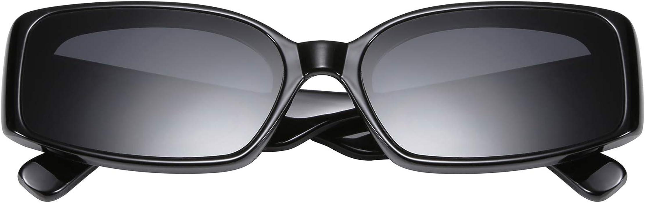 bd88fcec242 Creative Rectangle Sunglasses Women Fashion Thick Frame UV400 Protection  B2462