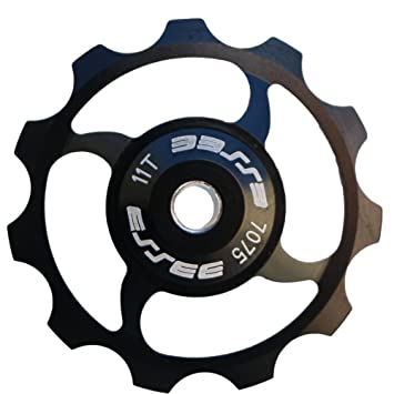 Pack de dos ganopper AL7075 rodamientos de cerámica bicicleta desviador trasero polea 11T bicicleta de carretera ...