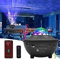 Proyector Estrellas, Newlemo Lámpara Poyector Galaxia con Temporización, Control Remotoy Bluetooth - 10 Modos Luz…