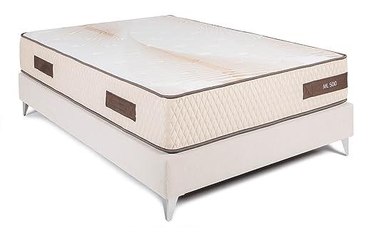 Bedland ▻ Colchón Viscoelástico ML500, Color Beige (150cm x 190cm). Colchón diseñado y Recomendado por fisioterapeutas. ¡Mejora YA la Calidad de tu sueño ...