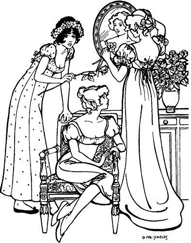 Reproduction Gown - Folkwear Empire Dress #215 Ladies Empire-Waist Gown Frock Dresses Late 1700's Reproduction Sewing Pattern (Pattern Only) folkwear215