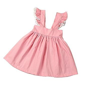 2022d768c6a2 Amazon.com   Female Baby Girls Sling Dress Princess Skirt Children ...