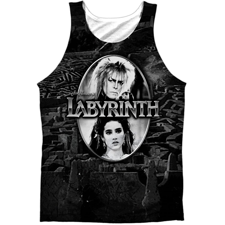Labyrinth Family Adventure Movie Jareth's Maze Front Print Tank Top Shirt