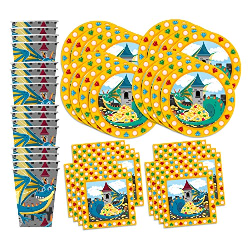 Mythical Dragon Birthday Party Supplies Set Plates Napkins Import It