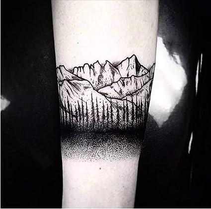 Tatuajes temporales de montaña rocas para hombre y mujer, tatuaje ...
