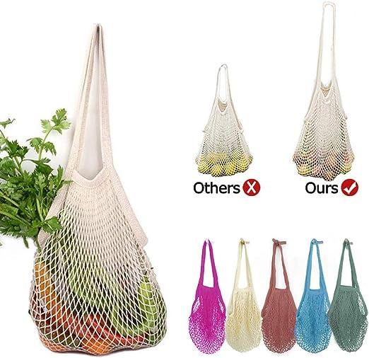 Bolsas Reutilizables Compra Malla, Bolsa Algodón Rejilla Lavable para Fruta/Verduras/Juguetes--5Pack: Amazon.es: Hogar