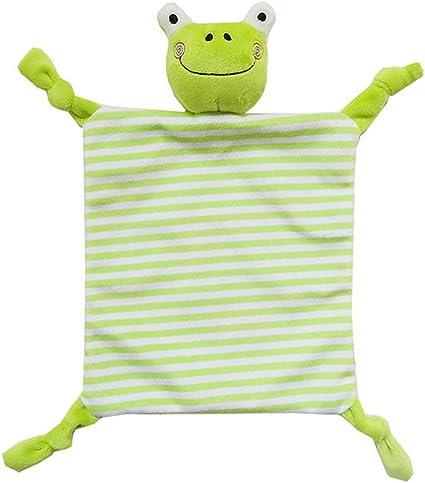 INCHANT Consolateur b/éb/é Couverture en peluche avec la s/écurit/é Animaux Consolateur infantile Blanket /éducation grenouille verte