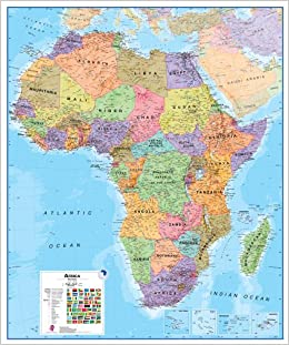 Map Of India And Africa.Buy Africa Political Map 2018 Book Online At Low Prices In India
