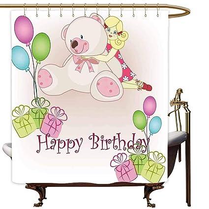 Amazon Com Marymunger Waterproof Bathtub Curtain Kids Birthday Baby
