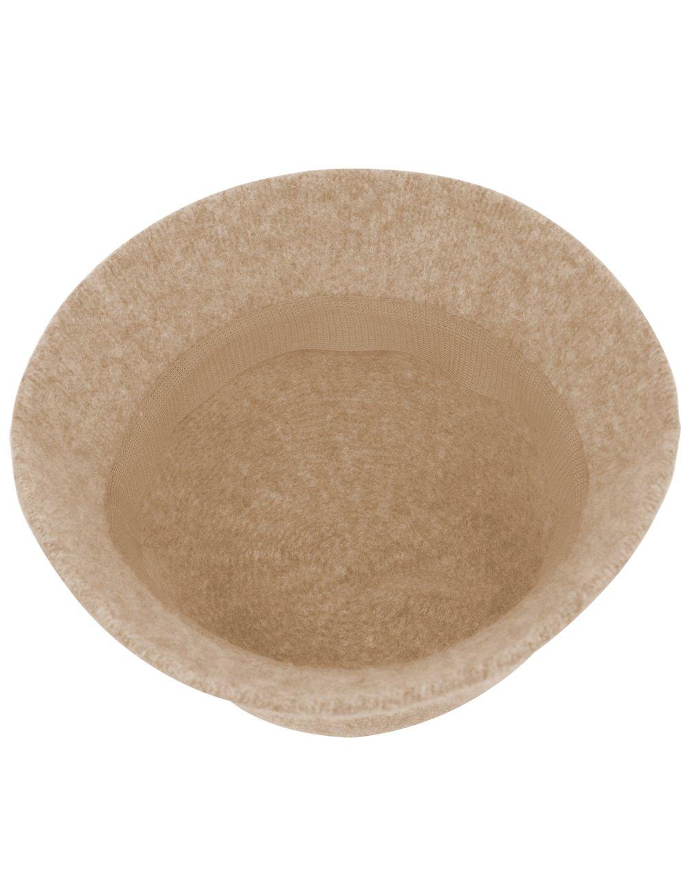 Dahlia Women's Wool Blend Hand Beaded Winter Bucket Hat/Cloche Hat - Tan by Dahlia (Image #5)