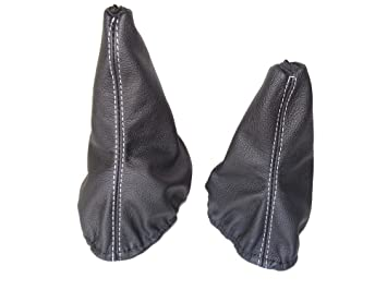 Para Mercedes Clase G W460 W461 1979 - 2001 y liberación de la palanca de cuero negro costuras de color blanco: Amazon.es: Coche y moto