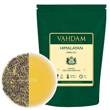 Amazon Com Vahdam Green Tea Leaves From Himalayas 100 Cups 9oz Bag 100 Natural Weight Loss Tea Slimming Tea Powerful Anti Oxidants Brew Hot Tea Iced Tea Or Kombucha Tea