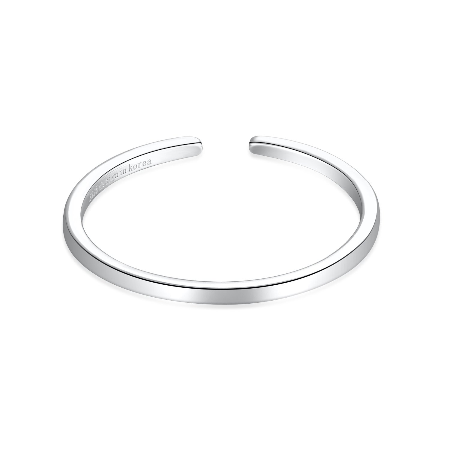 1.2mm Minimalist Plain Sterling Silver Stackable Open Finger Ring Bands Adjustable For Women Men Size 5.5-7.5