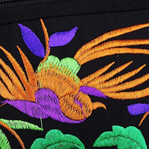 Filles Floral Femmes Design Broderie H À Magideal Fleur Sacs à Bandoulière Main Rétro nxPcCAqvw8
