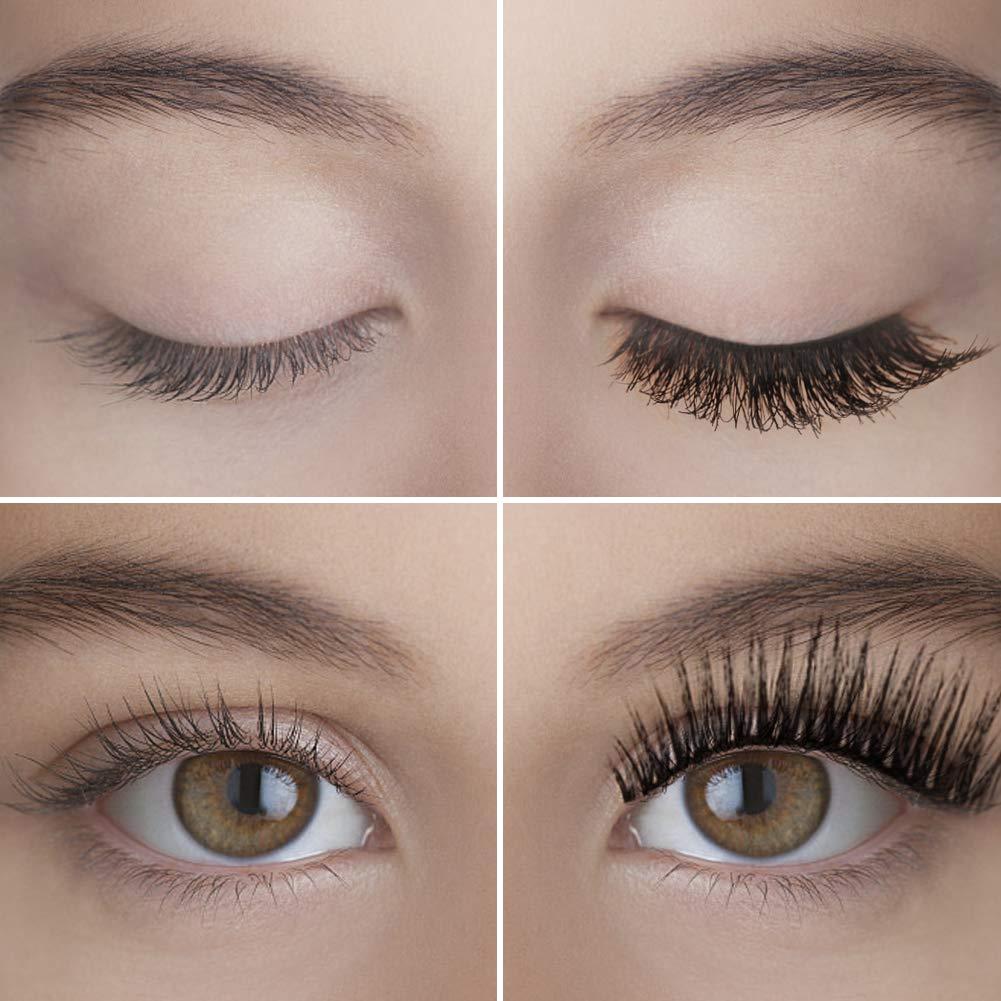 ISENPENK Magnetisch Wimpern, Magnetische Eyeliner, Magnetischer Eyeliner Kit, 3 Paar Natural Look Wiederverwendbar & Wasserdicht False Eyelashes, Leder-Geschenkbox