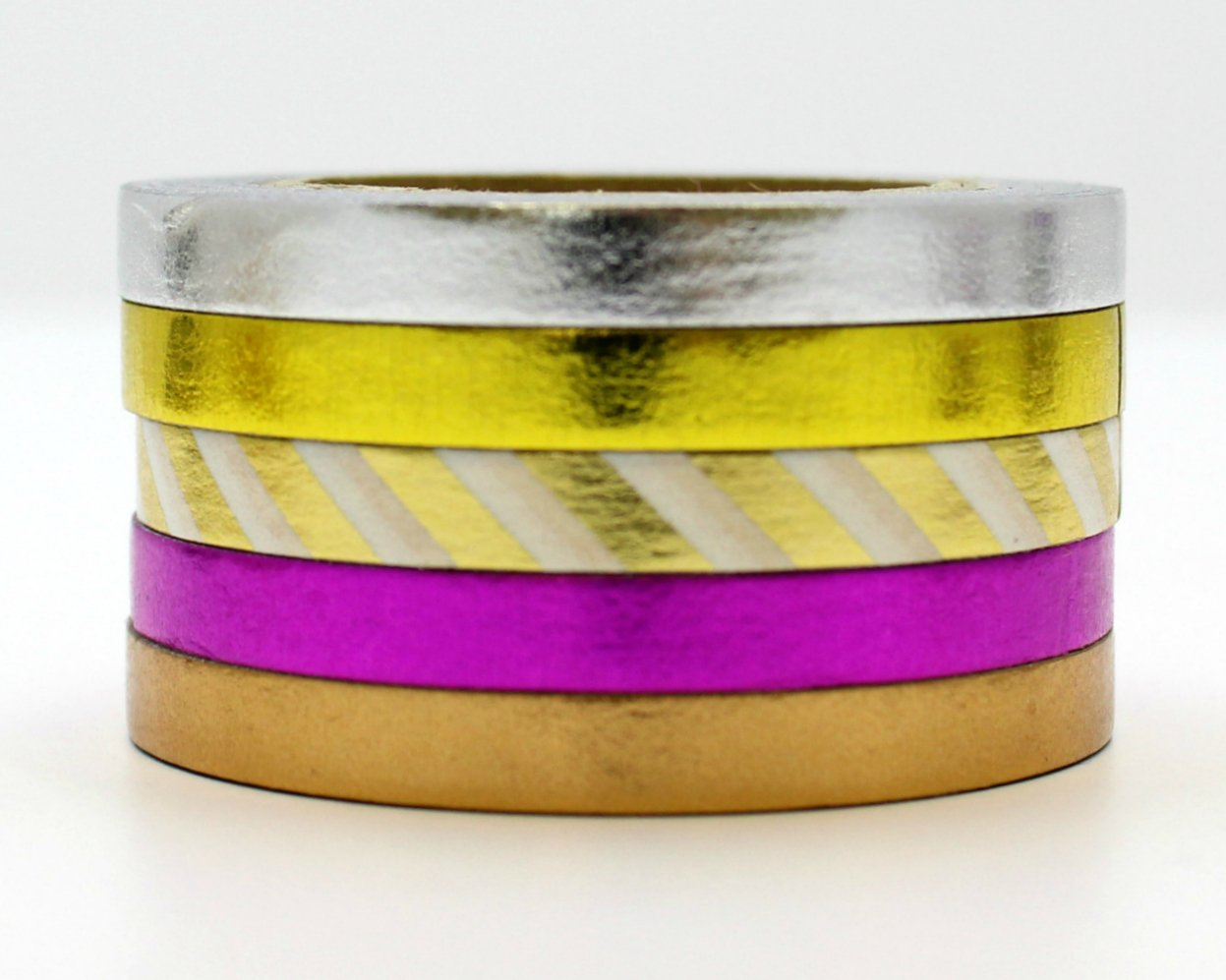 Amazon.com: 5 thin foil washi tapes 5mm silver - Love My Tapes