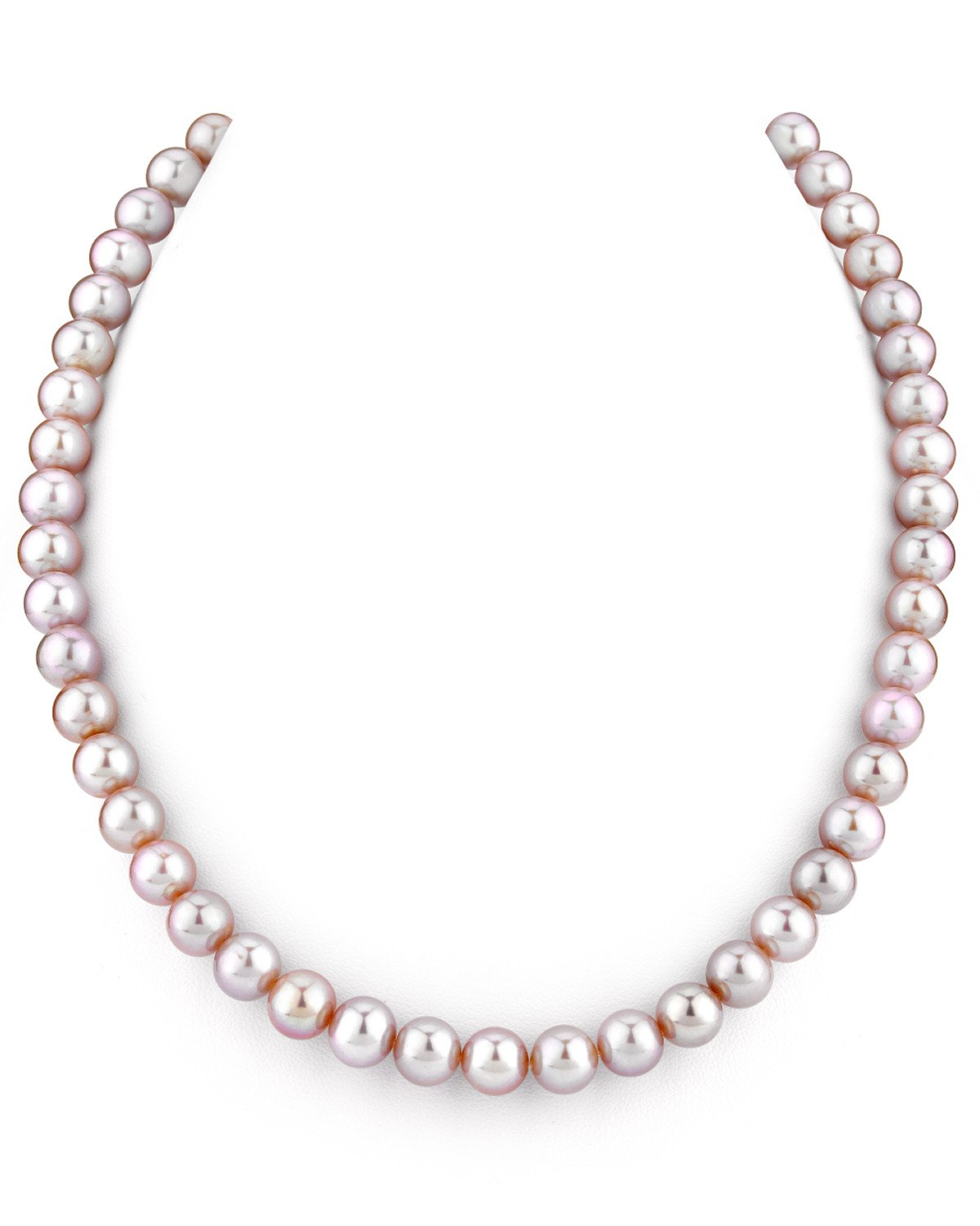 THE PEARL SOURCE 14K Gold 7-8mm AAAA Quality Pink Freshwater Cultured Pearl Necklace for Women in 18'' Princess Length