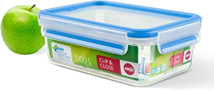 Emsa Vorratsdosen Clip/&Close 3D Perfect Clean 0,25l Frischhaltedose kochen Küche