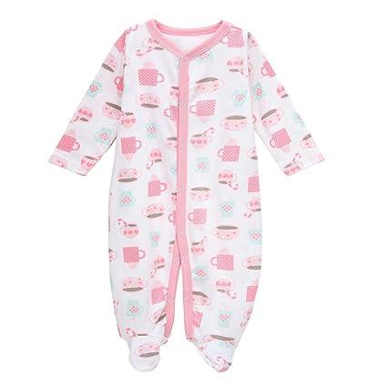 4230c9efe15ec エルフ ベビー(Fairy Baby)新生児服 足つきロンパース ベビー服 つなぎ カバーオール 長袖 出産祝い