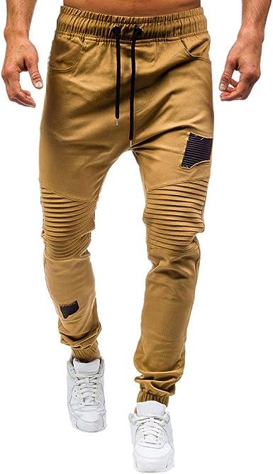 ZODOF Moda Hombres Sueltos Pantalones de Bolsillo Joggers ...
