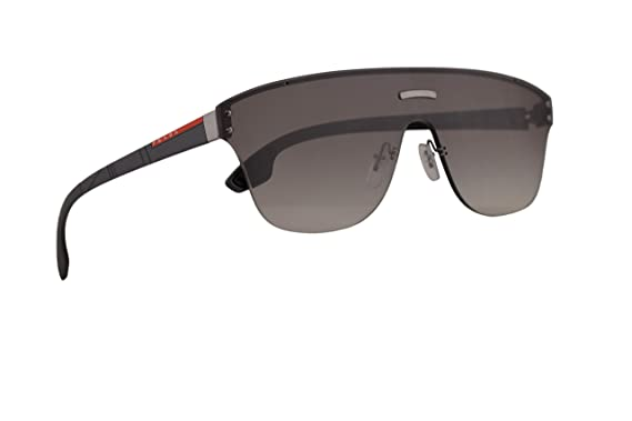 0be22095a41e7 Image Unavailable. Image not available for. Color  Prada PS57TS Sunglasses  Gunmetal w Grey Gradient 43mm Lens ...
