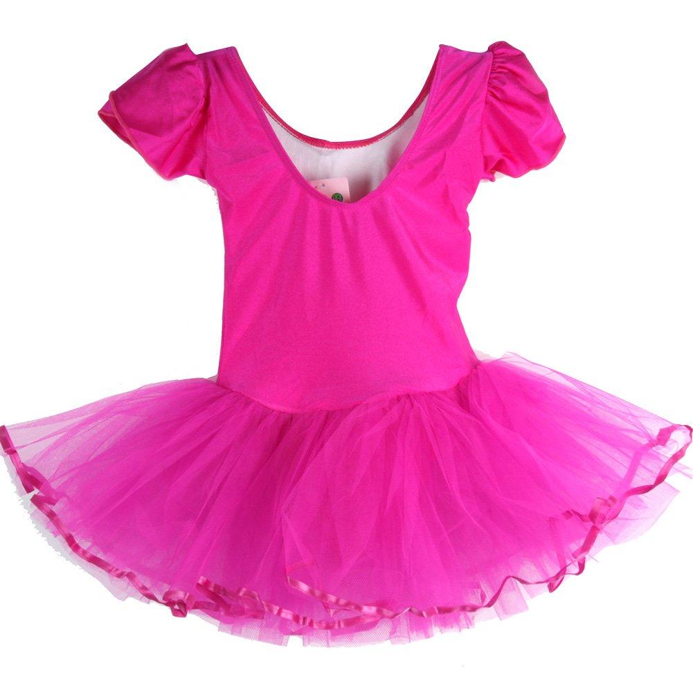 Vestiti Bambina Danza, KISSION Bambini Tutu Ballet Ginnastica Body Abito 2-9 Anni