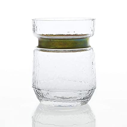 5e22198551a Image Unavailable. Image not available for. Color  Accent Decor Jasmine  Glass Vase Gold Trim ...