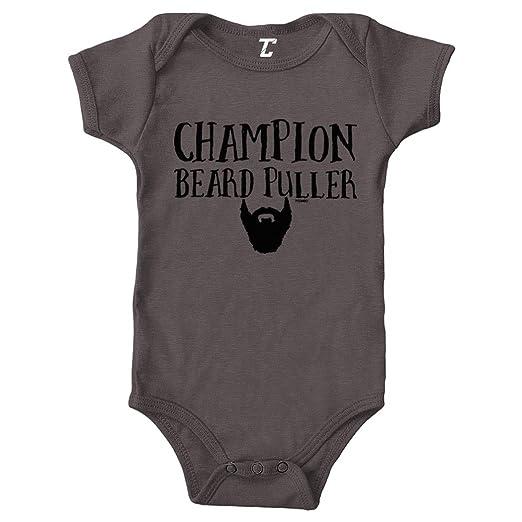 09bd538a8 Amazon.com: Champion Beard Puller - Funny Dad Papa Bodysuit: Clothing
