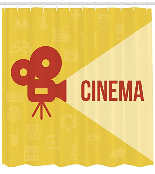 ABAKUHAUS Cine Cortina de Baño, Proyector De Diseño, Material ...