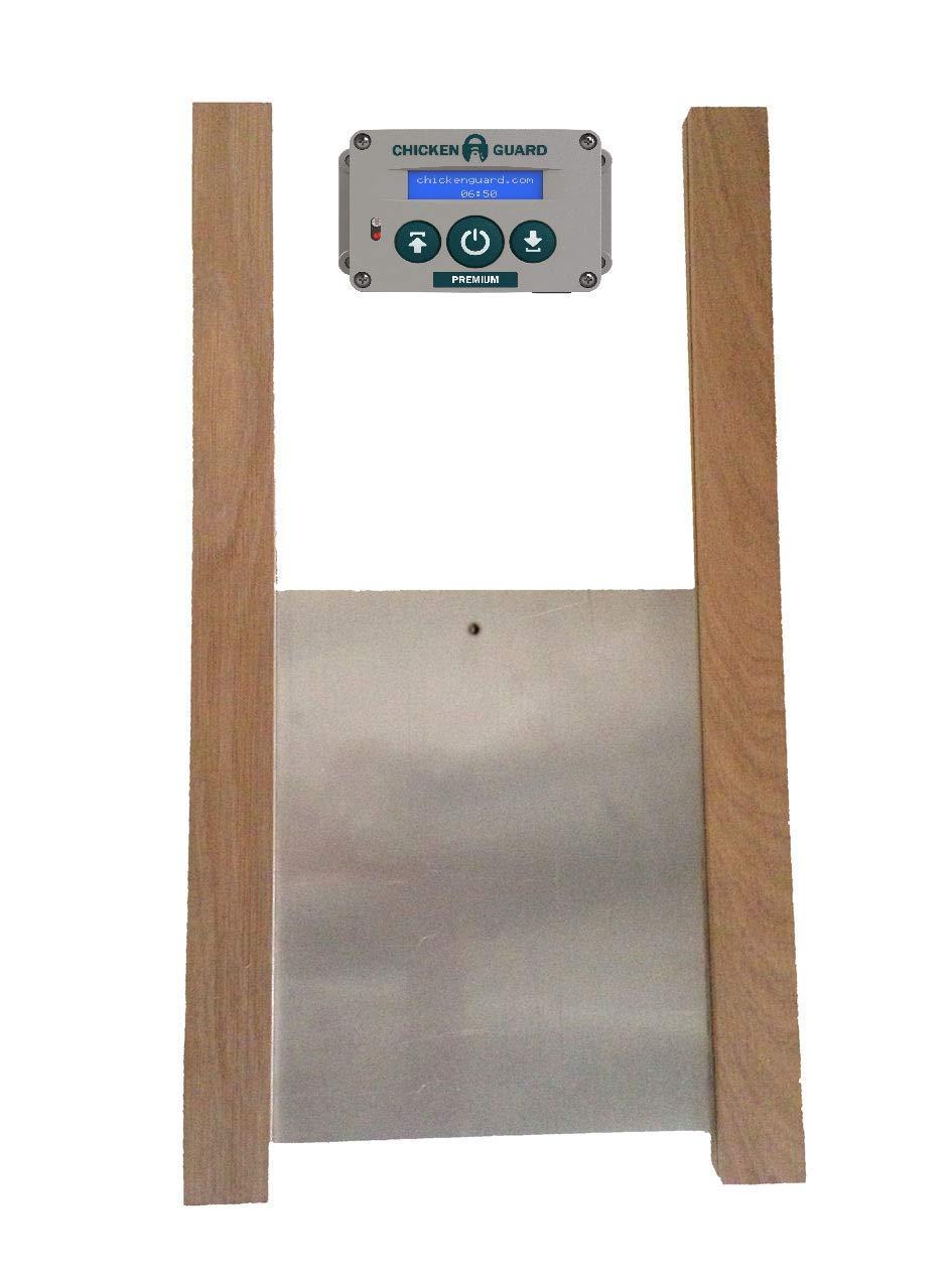 ChickenGuard Premium Automatic Chicken Coop Pop Door Opener & Door Kit Combo | Outdoor/Indoor Auto Door Opener, Chicken Coop Accessories by ChickenGuard