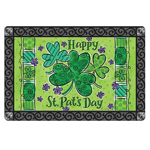 FOR U DESIGNS Welcome to House Green Happy St pat's Day Design Indoor Kitchen Door -