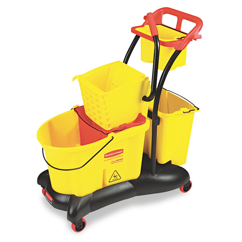 RCP778000YW - WaveBrake 35 Quart Mopping Trolley Side Press