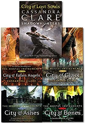 Cassandra Clare Mortal Instruments 5 Books Collection Pack Set RRP ...