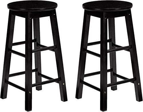 PJ Wood Classic Round-Seat 24-inch Counter Stool
