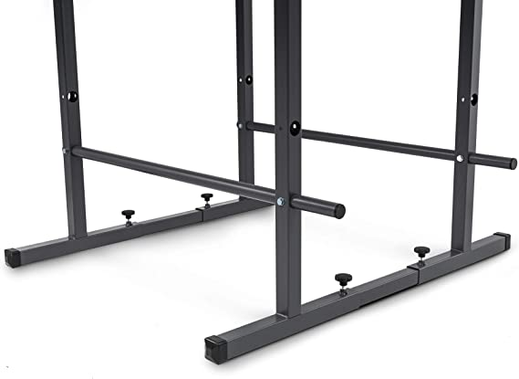 Station de Musculation Charge maximale 350KG Ajuster la Hauteur Barre de Traction R/églable en Hauteur Gym Familialewith backrest HLLXX Dip Station 155-205cm