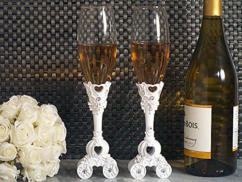 Enchanted wedding coach wedding toasting flutes set From FavorOnline